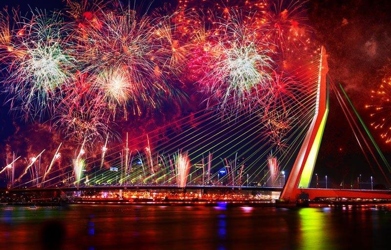 Wereldhavendagen vuurwerk Rotterdam